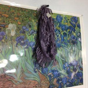 Decretive purple lace scarf
